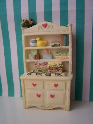 Dolls House, Cabinet, 16Th, Nursery, Baby Items, Cast Resin, Vintage