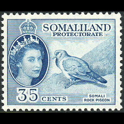 SOMALILAND 1953-58 35c Stock Dove. Bird. SG 142. Lightly Hinged Mint. (AT627)
