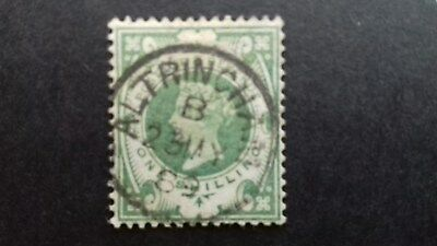 Stamps Great Britain - Scott 122 - QV Definitive -1887-92 - Used - Single 1/-