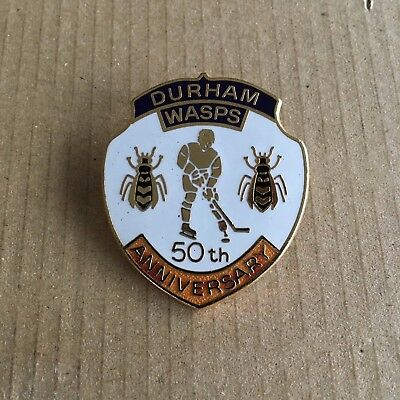 Durham Wasps 50th Anniversary Pin Badge