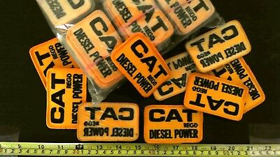 Embroidered patch LOT x 5 CAT DIESEL POWER vintage 70's Caterpillar