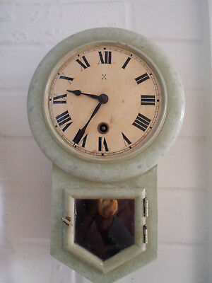 Vintage Antique Shabby Chic Tameside 2609 Wall Clock Pendulum