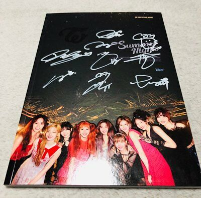 "Twice ""Summer Night"" 2nd Special Album  Autograph ALL MEMBER Signed PROMO ALBUM"