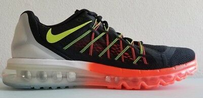 NIKE AIR MAX 2015 Mens 698902-008 Black Blue Lava Mesh Running Shoes ... 1ee339832481