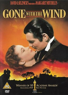 Gone With The Wind - Vivien Leigh, Clark Gable - NEW Region 2 DVD