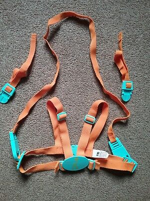 Mothercare Baby Harness Reins Orange With A Giraffe Big Tall Unisex