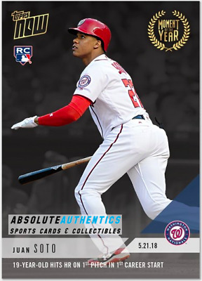 2018 Topps Now Moment of the Year #5 GOLD WINNER #MOY5 JUAN SOTO RC Rookie