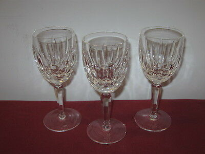 "Waterford Crystal  ""kildare""  Claret Wine Glasses  --  3"