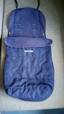 MacLaren pushchair/buggy/stroller baby and toddler cosy toes foot muff navy blue