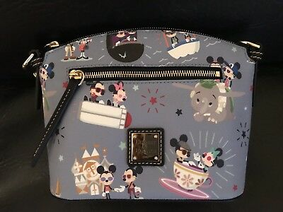 Disney Dooney and Bourke Mickey Minnie Attractions Hipster Crossbody Bag NWT