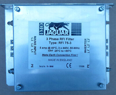 IMO Jaguar 3 Phase VXS Inverter RFI Filter  RFI 75-3