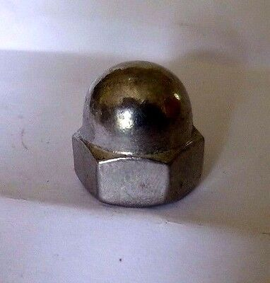 30 x  M10 A2 Stainless Steel Polished Dome Nuts