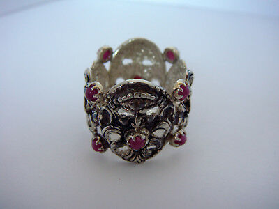 TAGLIAMONTE Designs (651A) 925SS Ring W/ Rubies* Carnivale* Size 9*