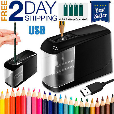 New Electric Pencil Sharpener Automatic Operated Powered USB Desktop Small 2019