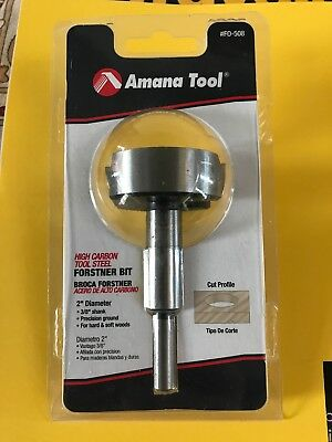 New in Pack Amana Tool 2 in. Forstner Bit 3/8 in. shank High Carbon Tool Steel