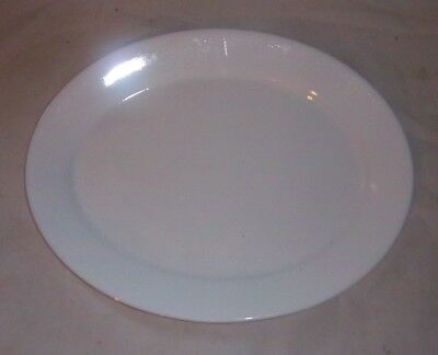 Vintage Comcor Corelle Winter Frost White Small Oval Platter VERY NICE