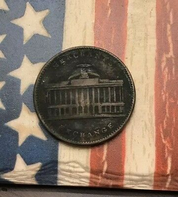 1837 New York City Hard Times Token Joint Stock Exchange Wall Street #LX48