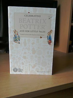 Beatrix Potter 2017 50p coin album folder NEW unused Peter Rabbit and friends