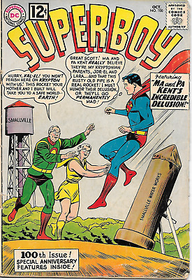 Superboy #100 (DC Comics, Oct 1962) 2.0 Good