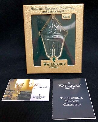 Waterford Crystal CHRISTMAS MEMORIES LANTERN 1997 Ornament NIB!!!!