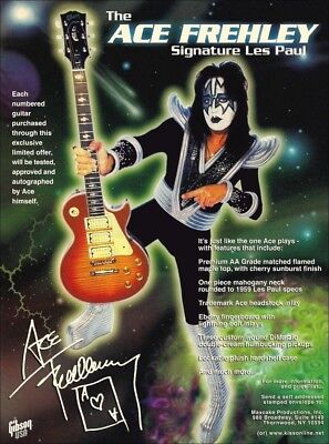 KISS Band Ace Frehley Gibson Les Paul Reproduction Promotional Stand-Up Display