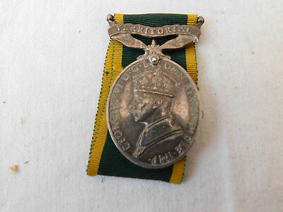 WW1 WW2 ? Royal Artilliery RA Territorial Efficiency Medal - Wilkinson