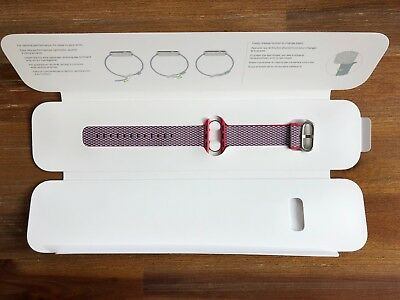 Apple MQVD2AM/A 38mm Woven Nylon Smartwatch Replacement Band Berry Check GENUINE