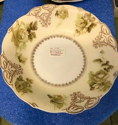 Vintage Rare Old Ivory Silesia Antique Large  10 Inch Serving Bowl