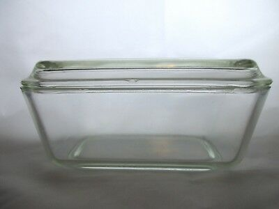 Vintage PYREX 0502 Clear Refrigerator Covered Dish