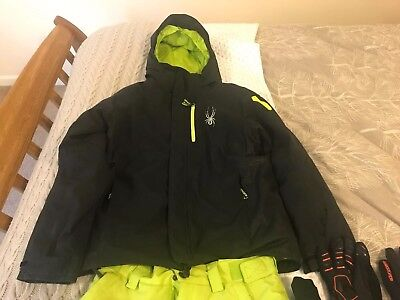 1a36b3951f Boys SPYDER Ski Jacket   Fleece Age 14 with Added Trousers and Gloves Bundle