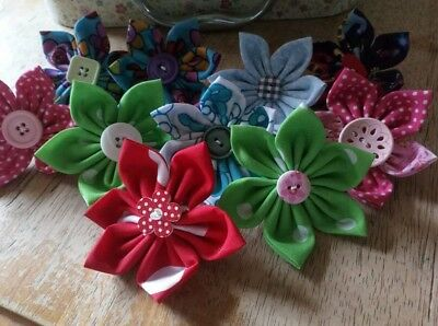 Dog Grooming Blooms, flowers, made to order, dog collar fabric flower