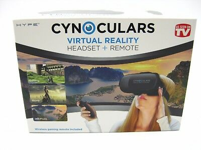 Cynoculars Virtual Reality Headset & Remote Wireless Gaming Remote Included NEW