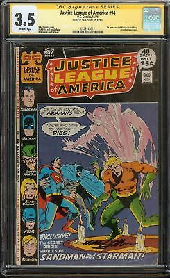 Justice League of America #94 CGC 3.5 VG- JLA SIGNED BY NEAL ADAMS Holiday Gift
