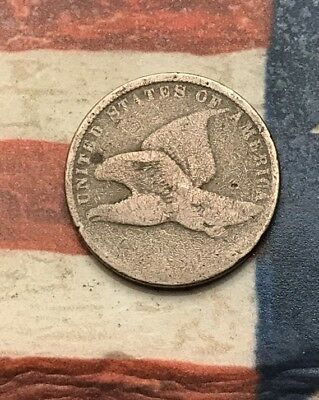 1856-1858 1C Flying Eagle Penny Cent Vintage US Copper Coin #LX102