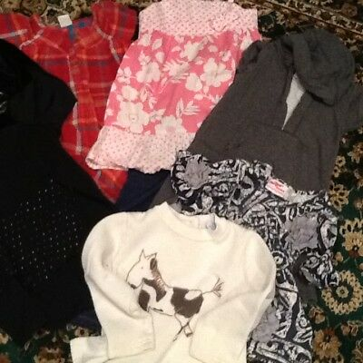 Old Navy Faded Glory Girls lot of 4T Cloths Shirts tops Jeans pants Dress 10pc