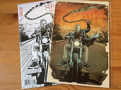 Spike After The Fall Issue 1 IDW Comics 2007 Variant Cover & 2008 B&W Variant.