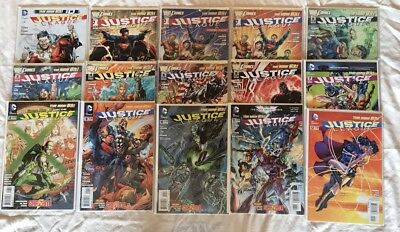 Justice League #1 - #12 - DC Comics New 52 (2012) - Inc #1 VARIANT Covers VF/NM
