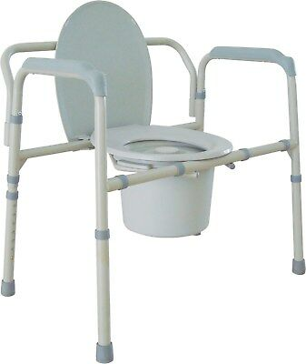 Heavy Duty Bariatric Folding Bedside Steel Commode Medical Toilet Chair 11117N-1