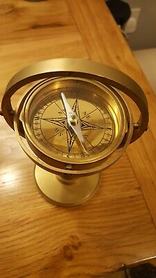 Nautical Full Brass Gimble Compass Vintage Maritime Home Decorative