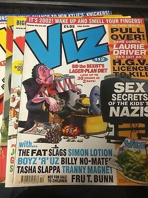 4 Issues Of Viz comic (111, 112, 113 & 2001 Summer Special)