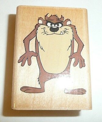 Classic Taz 226D Wood Rubber Stamp - Wooden - 1996 Looney Tunes Rubber Stampede