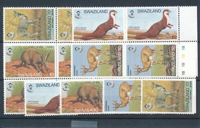 [18281] Swaziland 1997 : Fauna - 5x Good Set of Very Fine MNH Stamps