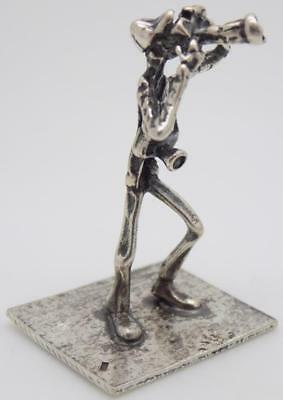 Vintage Solid Silver Italian Made Photographer Figurine, Miniature, Stamped