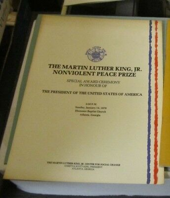 1979 Martin Luther King Nonviolent Peace Prize Given to Jimmy Carter Materials
