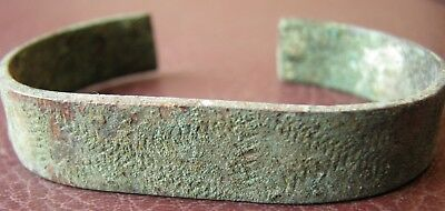 Authentic Ancient Lake Ladoga VIKING Artifact > Bronze Bracelet  VV 2-A