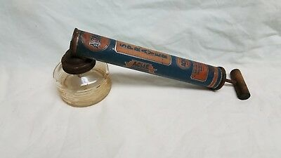 Vintage Acme Bug Sprayer -Glass Bottle - Wooden Handle-