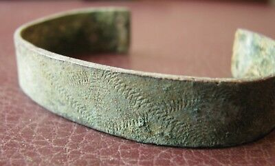 Authentic Ancient Lake Ladoga VIKING Artifact > Bronze Bracelet  VV 2-C