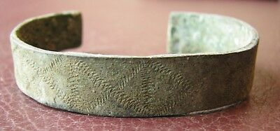 Authentic Ancient Lake Ladoga VIKING Artifact > Bronze Bracelet  VV 2-D