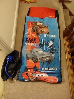 Disney Pixar Deluxe Cars Ready Bed Inflatabed Sleeping Bag Inflatable mattress