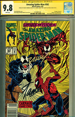 Amazing Spider-Man #362 Cgc 9.8 3X Ss By Stan Lee, Bagley, Emberlin-2Nd Carnage-